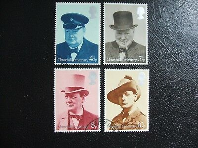 SG962-965 1974 Birth Centenary of Sir Winston Churchill. Used Set of Stamps.