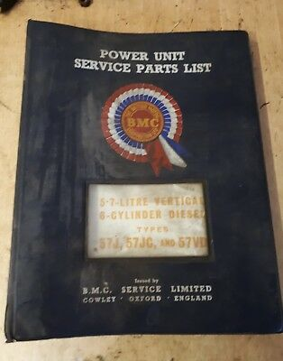 Nuffield Tractor / Bmc 5.7 Litre 6 Cylinder Engine Service Parts List  Manual.