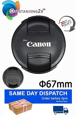 E-67II E67 II Lens Cap 67mm Ultrasonic Lens Protector Dust Cover for Canon