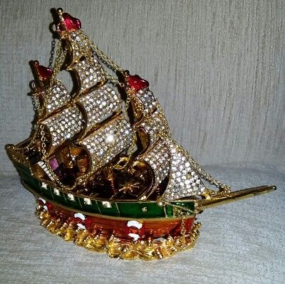 Lovely bejewelled metal boat