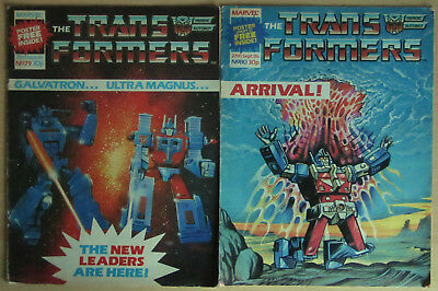 Transformers Marvel Comics UK #79 + 80 September 1986. FREE GIFT 2-PART POSTERS