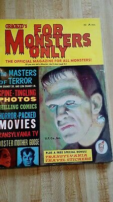 "Rare Like ,,famous Monsters,..""for Monsters Only"".  # 1.(1965)..very Fine..."