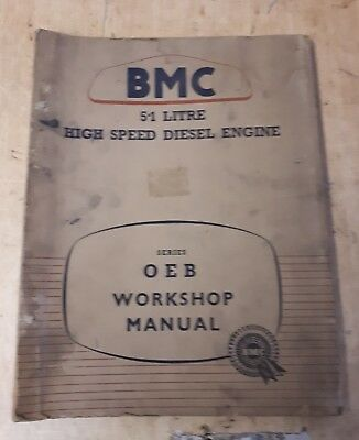 Nuffield Tractor / Bmc 5.1 Litre 6 Cylinder Engine Workshop  Manual.