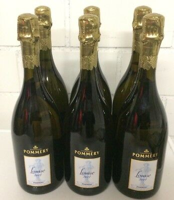 Champagner  Pommery  Cuvée  Louise.  2003  6 Flaschen