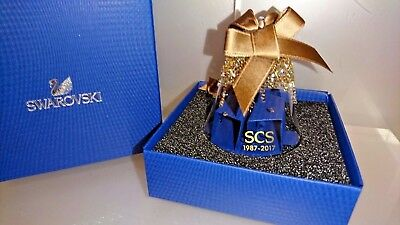 SWAROVSKI SCS 2017 30th ANNIVERSARY GOLD CHRISTMAS BELL ORNAMENT 5295582 NEW