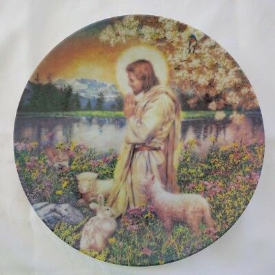 Chuck Gillies' Love One Another Collector Plate of Jesus in gardens