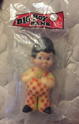 Vintage Big Boy Bank Hard Plastic Coin Bank (d1)