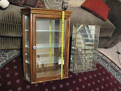 Oak Wall Mount or Table Top Curio Cabinet