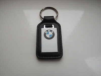 Brand New And Unmarked Bmw Genuine Leather Keyring -With No Dealership Markings