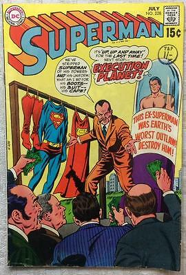 Superman #228 (1970 DC 1st series) VG/FN condition 46 yrs old Bronze Age