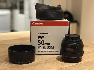 Canon EF 50mm F/1.2 L USM Lens, with UV & ND Filters