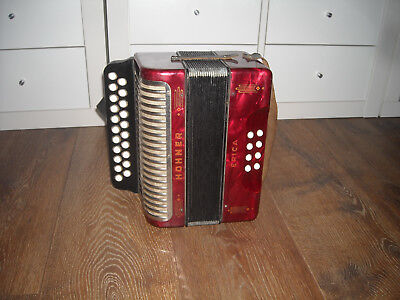 Hohner Erica C/F, Melodeon, used condition,