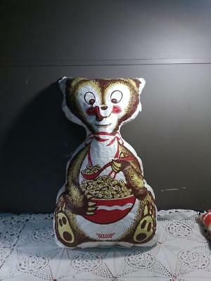 Vintage 1950s  Post Sugar Puff Cereal Plastic Blow Up Dandy Bear