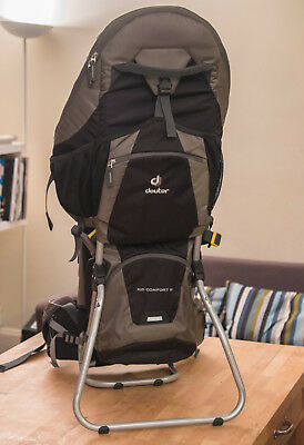 Deuter Kid Comfort 3 Child Carrier Backpack with new raincover