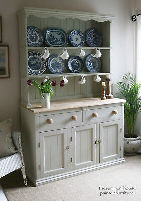 Lovely Vintage Pine Welsh Farmhouse Dresser Painted in Farrow & Ball