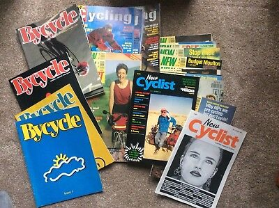 Job lot-36 Issues of various Cycling Magazines from 1990s(New Cyclist & BYCYCLE)