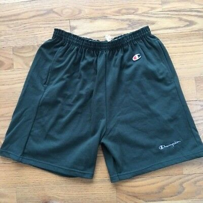VTG Champion Mens XL Shorts Classic Logo Elastic Green Authentic Made in USA NEW