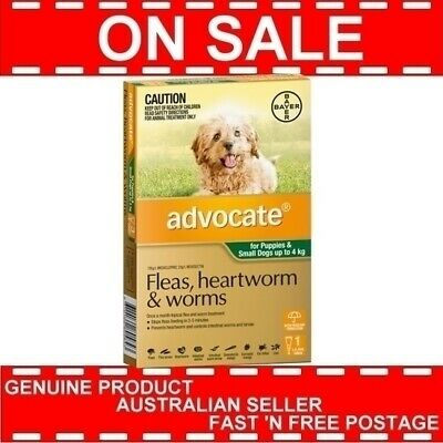 Advocate For Puppies and Small Dogs Up to 4kg 1 Pack