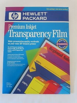 HP Premium Inkjet Transparency Film 45 Sheets C3834A Projector