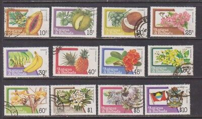 Antigua 1983 Definitives Used Part Set with High Values