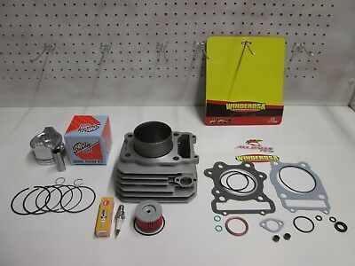 (New) Complete Top End Cylinder Kit For A Honda Atv Trx 300  Fourtrax  1988-2000