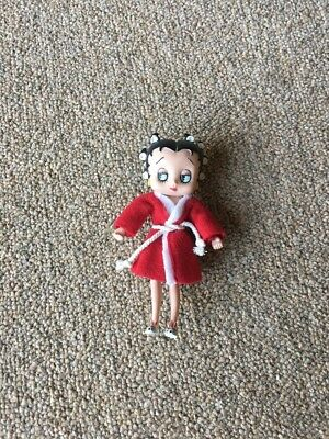 Betty Boop Rubber Bendable Doll Robe And Curlers
