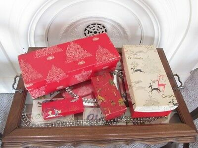 4 Vintage 1940's '50s Department Store Gift Boxes Christmas