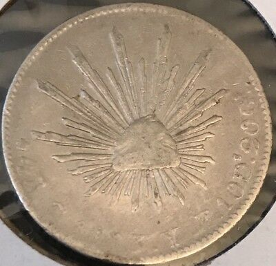 1863 Go-Yf Mexico Silver 4 Reales(details Cleaned)
