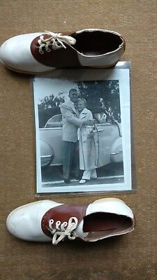 "MARILYN MONROE personal used worn SADDLE SHOES size 8, owned by her! ""LOOK"""