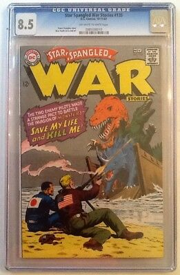 Star Spangled War Stories #135 Cgc 8.5 Vf+ Dc 1967 Ow/white Pages Heath Cover