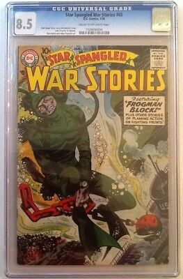 Star Spangled War Stories #65 Cgc 8.5 Vf+ Dc 1958 Cr/ow Pages 2Nd Highest Graded