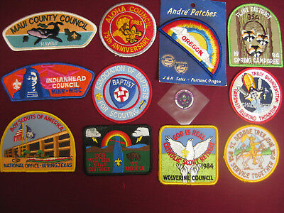 Vintage BSA, Boy Scouts of America Patches, Cub Scouts, Collectible, 1980, (12)