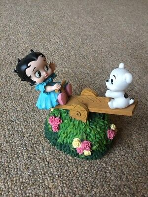 2002 Westland Giftware Betty Boop Music Box Child And Puppy