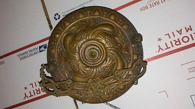 Antique 19th Century Bradley & Hubbard BRASS Chandelier for Parts or Repair NICE