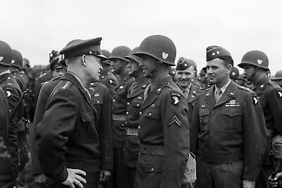 Ike Visits the 101st Airborne Before Market-Garden 1944