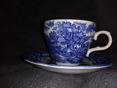 english village salem china co olde stafford cup/saucer