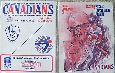 Milwaukee Brewers MLB vs. Vancouver Canadians, Toronto Blue Jays programs