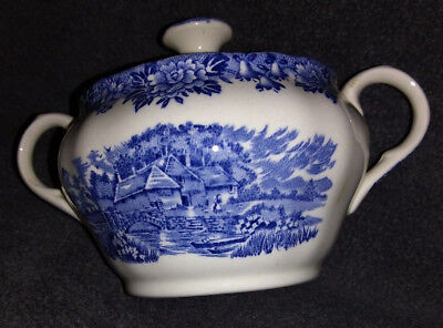 english village salem china co. sugar bowl/cover olde staffordshire