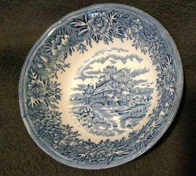 "Salem China Co English Village by  Old Staffordshire 5 ¼"" berry bowl"