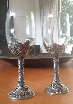 Authentic Royal Selangor pewter wine goblets