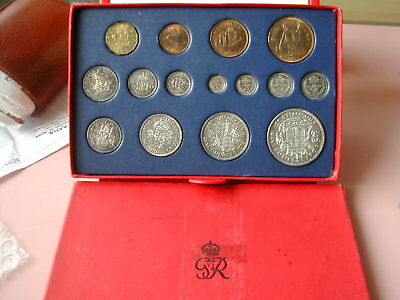 GB British George VI 15 coins Mint Set 1937 in official Royal Mint card case