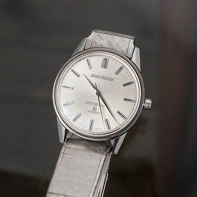 [Serviced] SEIKO SkyLiner 14092 1960s 21 Jewels Vintage Hand Winding Thin Watch