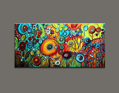Large Modern Abstract Hand-Painted Art Wall Oil Painting on Canvas (with framed)