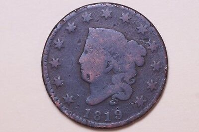 Old 1819 Coronet Head Large Cent