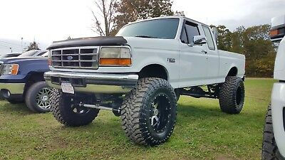 """1996 Ford F-350 XLT Lifted 5 speed 7.3 powerstroke 1996 Ford F350 40"""" tires"""