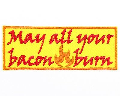 Calcifer May All Your Bacon Burn Patch -Howl's Moving Castle Patch - Anime Patch