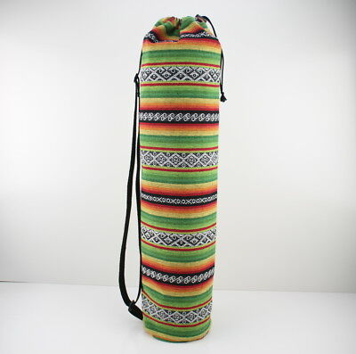 Colourful Cotton Yoga/Pilates Mat Bag with Adjustable Carry Strap Fits Mat 6mm