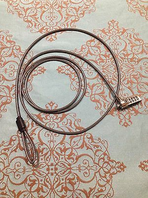 GENUINE DEFCON Notebook Laptop Serialised Cable Lock AS NEW