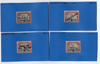 1930s C11 Signed Airmail stamp collection by FLYING TIGERS, Mustang aces, RAF