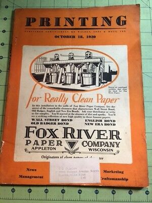Vintage Type Fox River Book Paper For Letterpress Printing